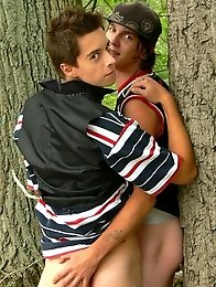 Cute Teen Boy Couple outdoor action