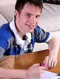 Sweet blonde gay teen boy wanker