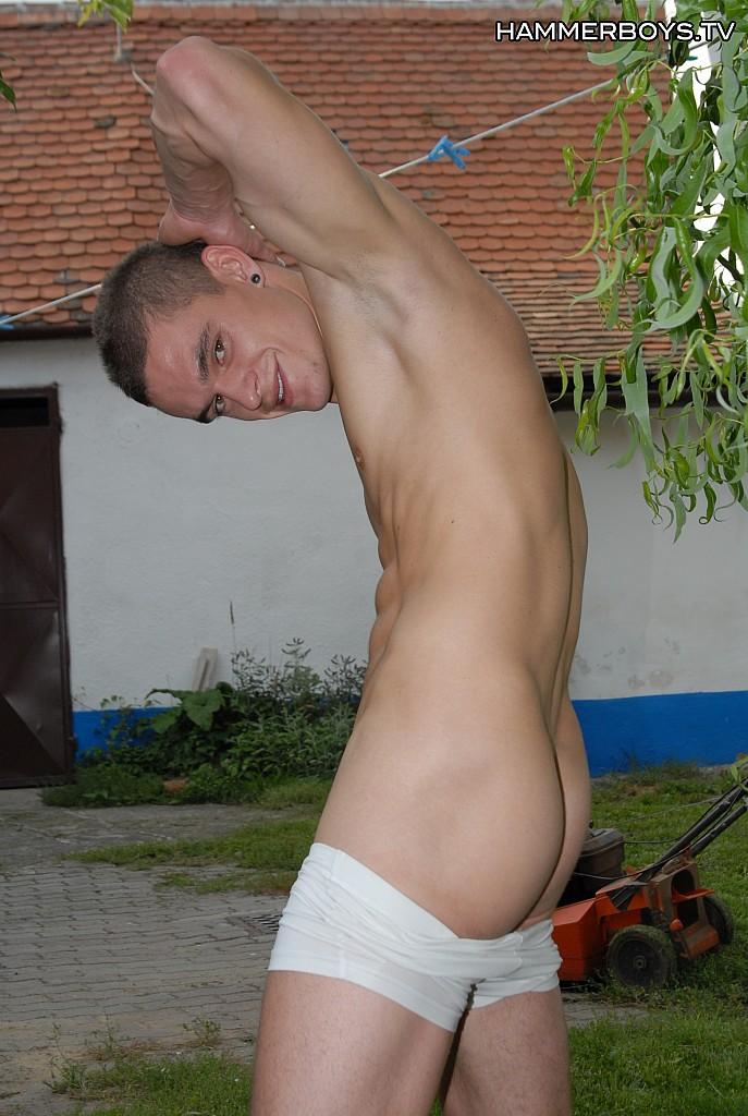 masturbating outdoors Boy